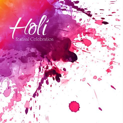 Festival indien Happy Holi célébrations avec des couleurs vecteur