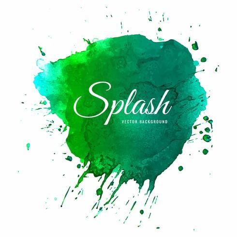 Vecteur de splash coloré aquarelle élégant