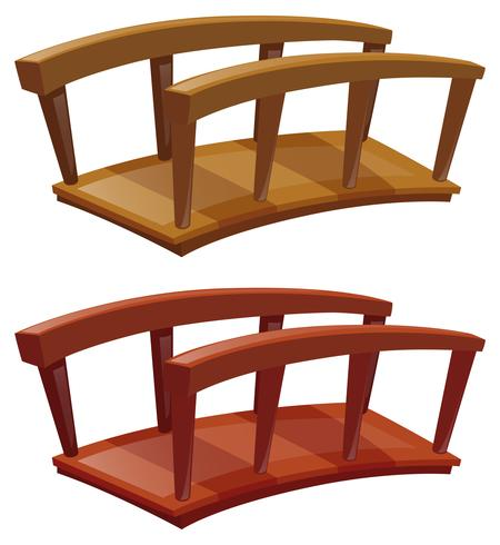 Ponts en bois vecteur