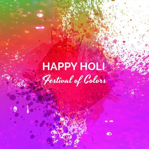 Happy Holi festival de printemps indien de fond de couleurs vecteur