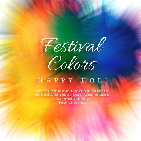 Joyeux holi fête colorée pour le fond de carte vecteur
