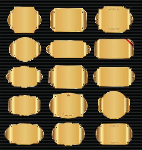 Des plaques métalliques vecteur