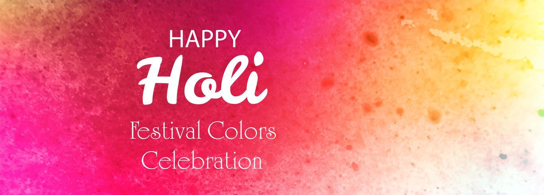 Fond de bannière colorée festival joyeux holi vecteur
