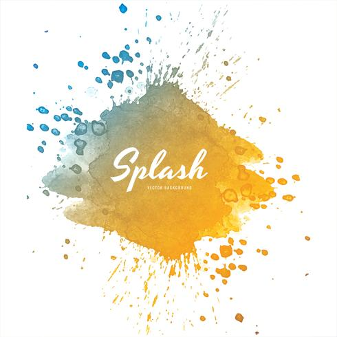 Conception de splash aquarelle coloré doux vecteur