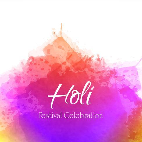 Fond de célébration de la fête indienne Happy Holi vecteur