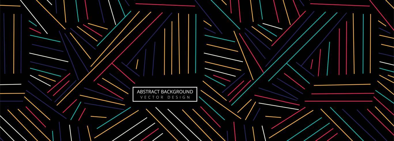 Fond d'en-tête de lignes géométriques colorées abstraites vecteur