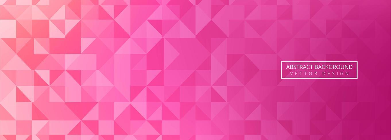 Modèle de conception bannière coloré abstrait polygone vecteur