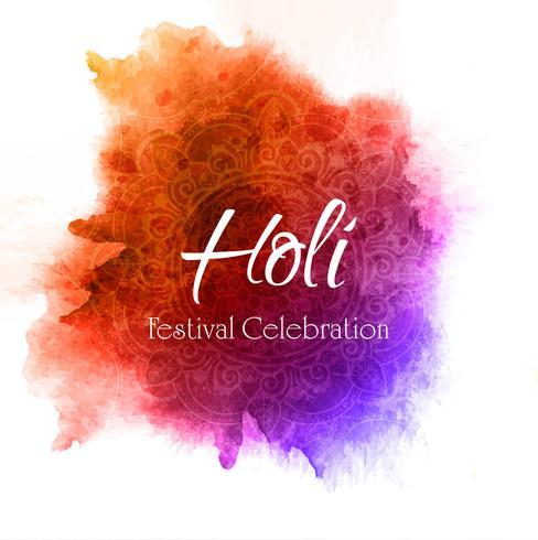 Célébrer festival fond coloré holi vecteur