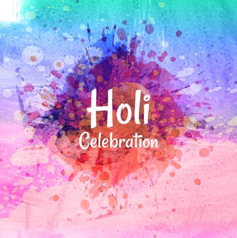 Happy Holi sur fond abstrait splash coloré vecteur