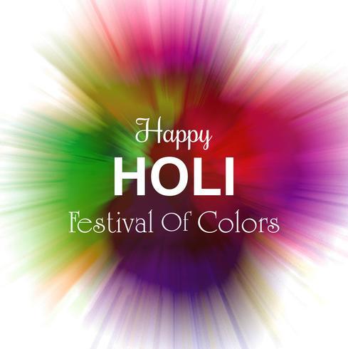 Beau fond coloré de vecteur de festival holi