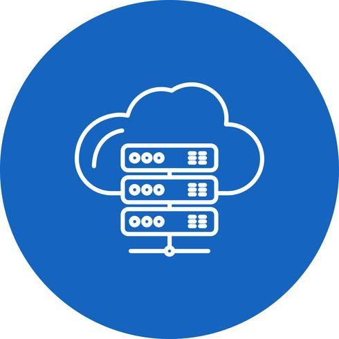 Icône Vector Server Cloud