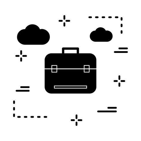 icône de breifcase de vecteur