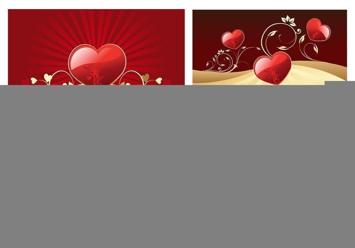 Pack vecteur papier peint de coeurs Valentine's Day