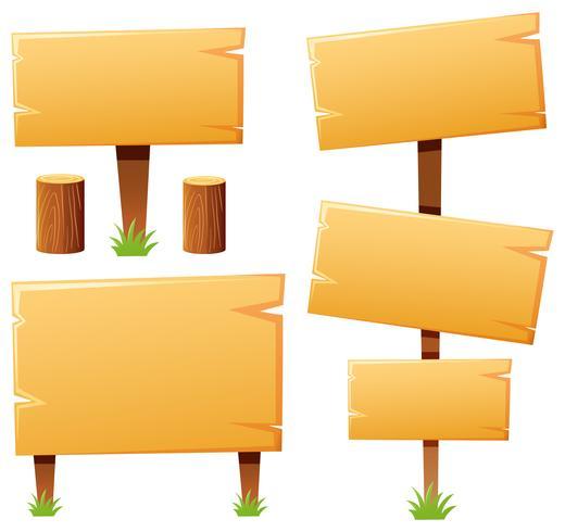 Modèle de signe en bois vecteur