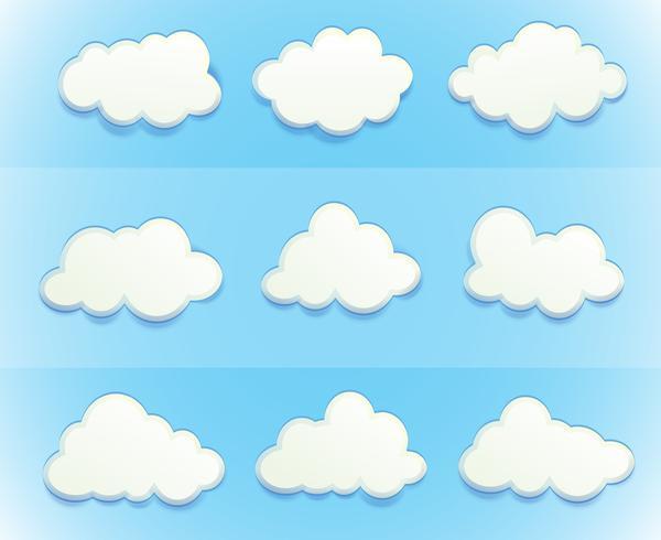 Nuages dans le ciel vecteur