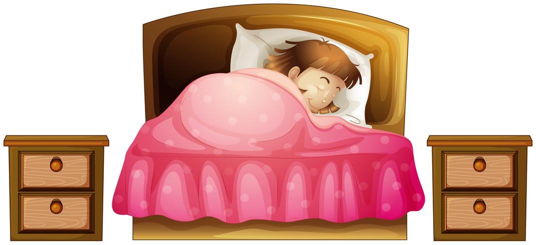 Une fille endormie vecteur