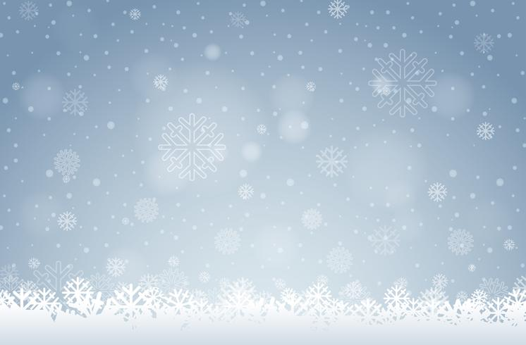 Un fond de flocon de neige blanc vecteur