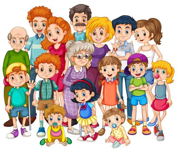 Famille vecteur