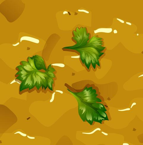 Soupe de potiron jaune vecteur