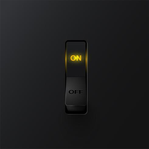 Interrupteur réaliste (ON), illustration vectorielle vecteur