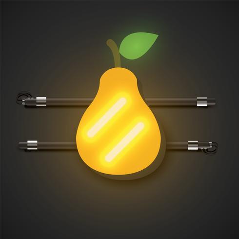 Fruits néon réalistes avec console, illustration vectorielle vecteur