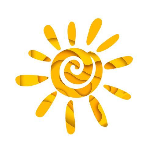 Soleil d'été abstrait. Création de logo. vecteur