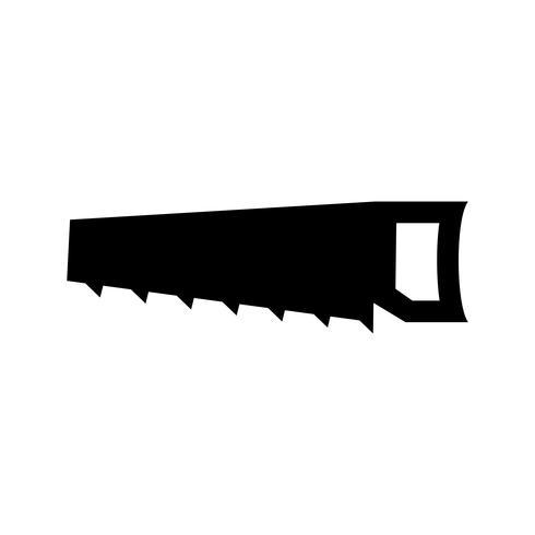 Icône de glyphe noir scie à la main vecteur