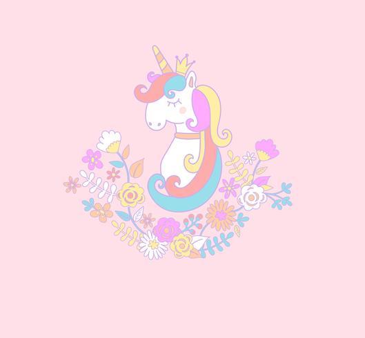 princesse licorne. vecteur
