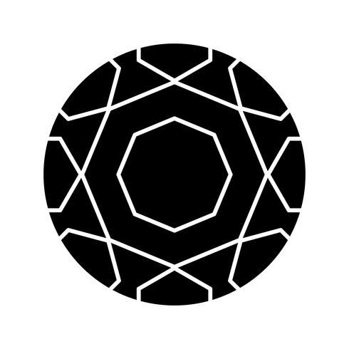 Icône de ballon de foot glyphe noir vecteur
