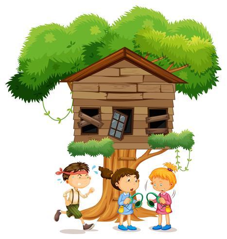 Enfants Jouant Devant La Cabane Telecharger Vectoriel Gratuit Clipart Graphique Vecteur Dessins Et Pictogramme Gratuit