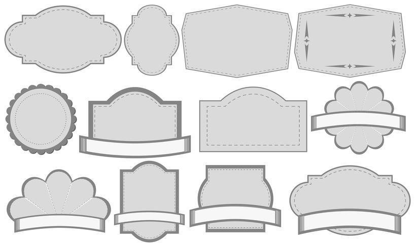 Étiquettes grises vecteur