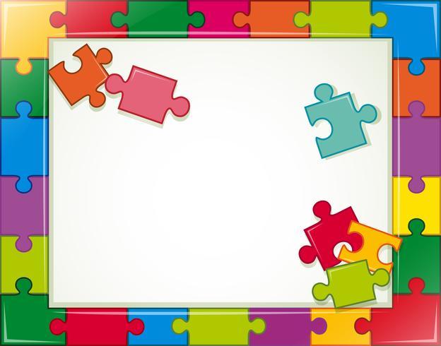 Cadre de puzzle vecteur