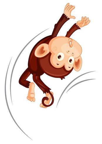 Un singe sautant sur fond blanc vecteur