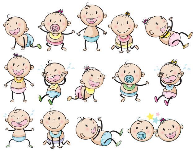 Bébés ludiques vecteur