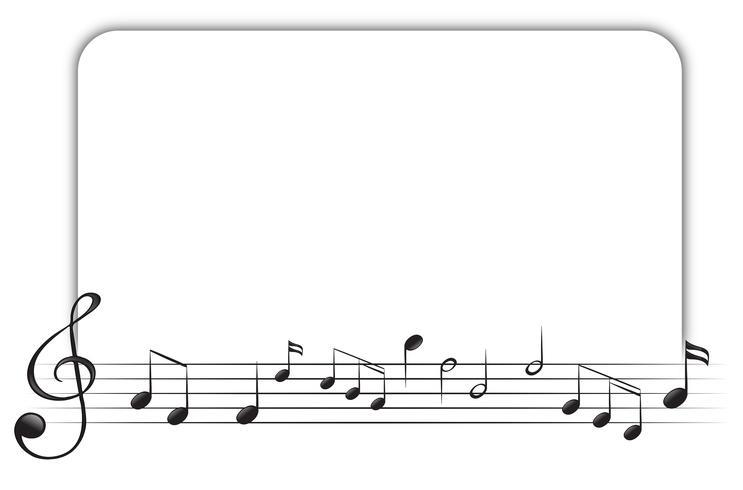 Modèle de bordure avec des notes de musique vecteur