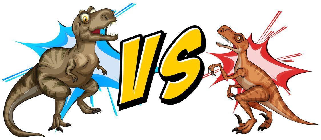 Tyrannosaurus se battant avec le rapace vecteur