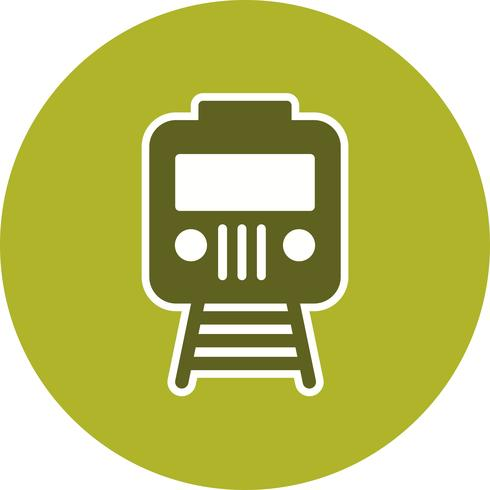 Icône de train de vecteur