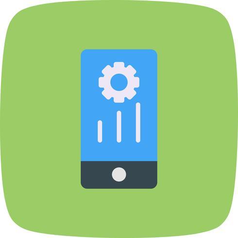 Icône de marketing mobile de vecteur