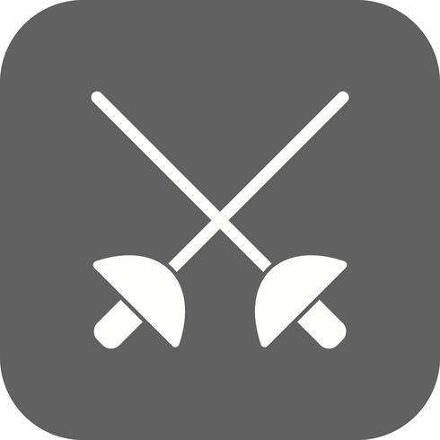 Escrime icône Illustration vectorielle vecteur
