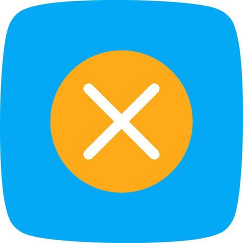 Annuler l'icône Vector Illustration