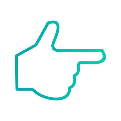 Illustration vectorielle de main icône vecteur
