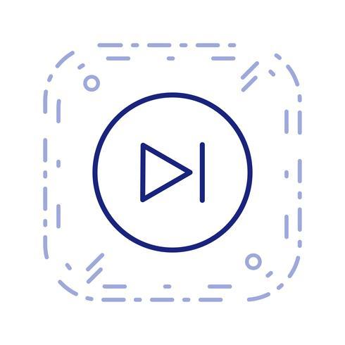 Illustration vectorielle prochaine icône vecteur