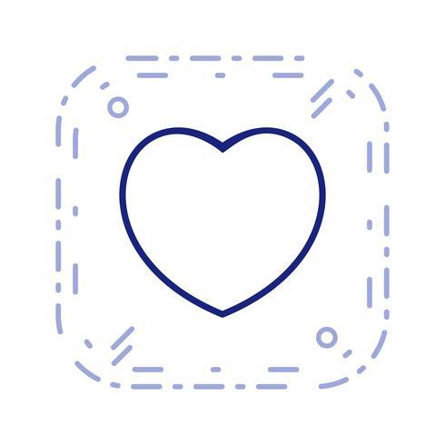 Illustration de coeur icône vectorielle vecteur
