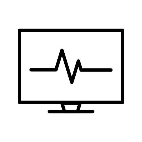 Icône de vecteur ECG