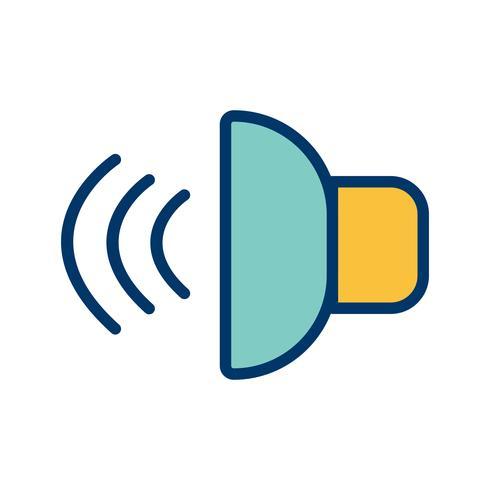 Illustration vectorielle icône sonore vecteur