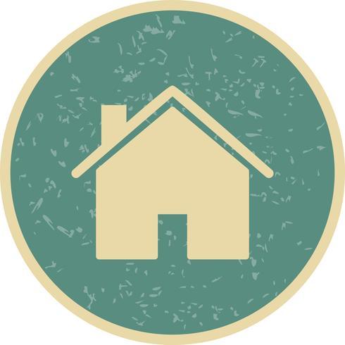 Illustration vectorielle de maison icône vecteur