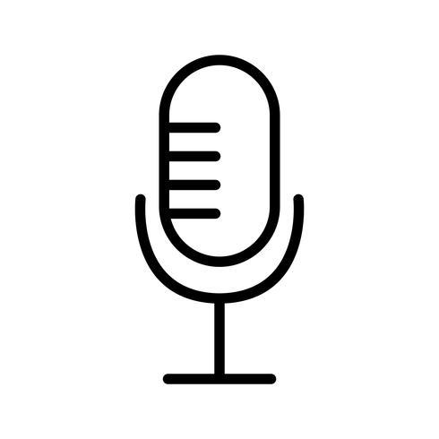 Illustration vectorielle icône de microphone vecteur