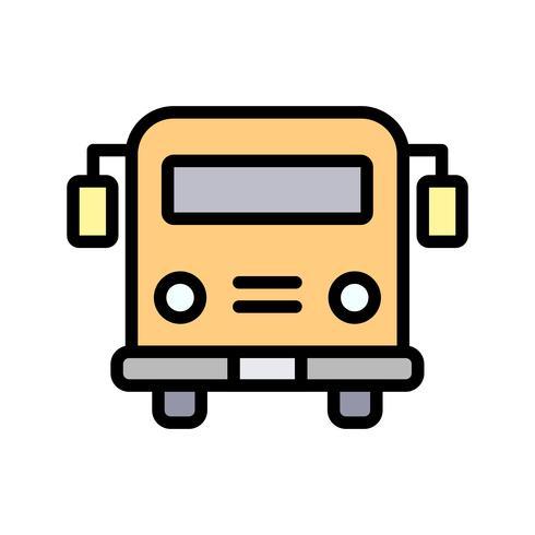 Icône d'autobus scolaire de vecteur