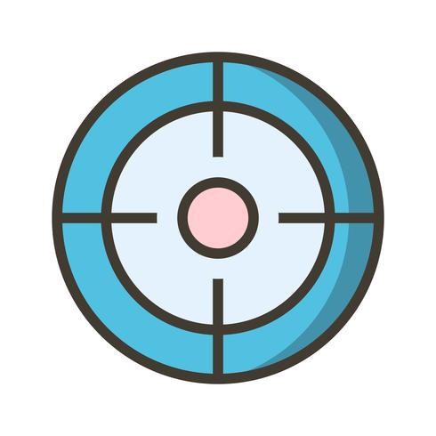 Icône de cible de vecteur