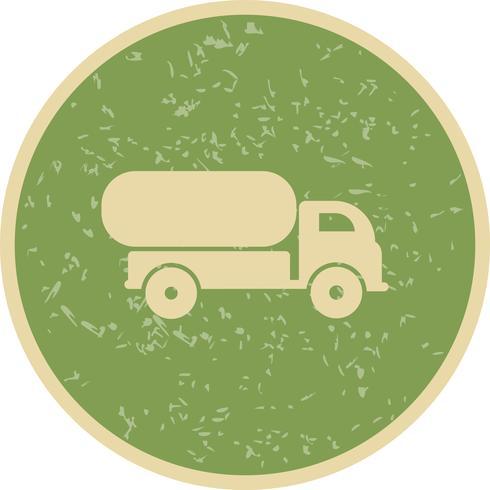 Icône de camion citerne de vecteur